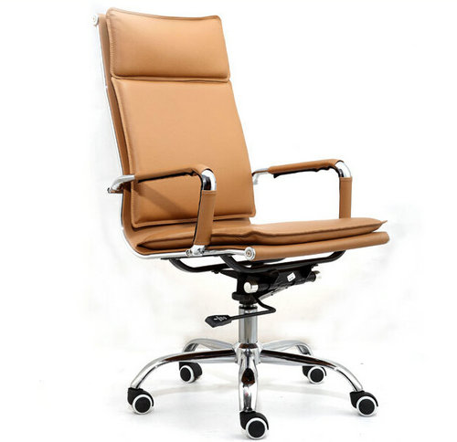Cheap High Back Leather Office Chair / Metal Executive