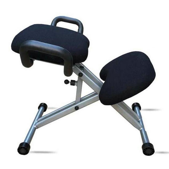 Metal Height Adjustable Office Kneeling Chair With Armrest